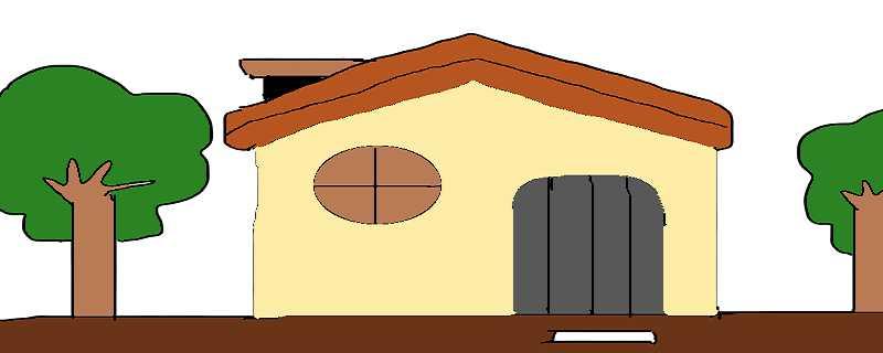 怎么画房子简笔画