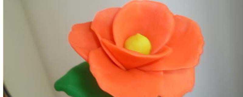 玫瑰花彩泥制作方法