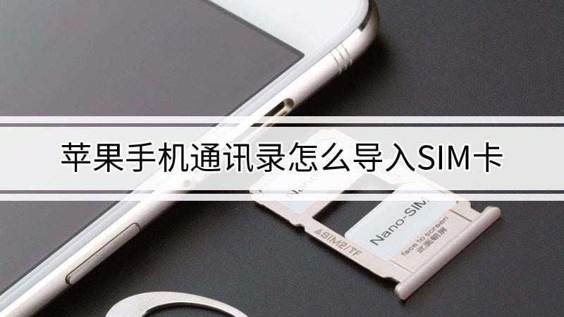 苹果手机通讯录怎么导入sim卡
