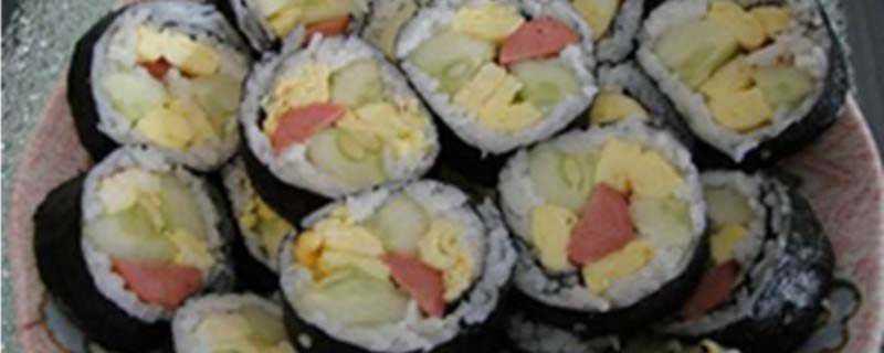 做寿司没有帘子