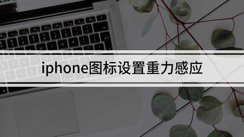 iphone图标重力感应设置