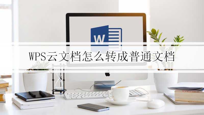 wps云文档怎么转成普通文档