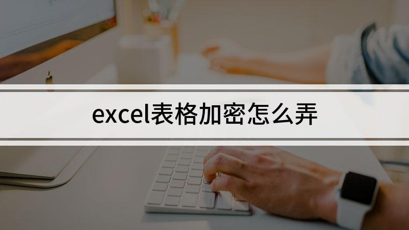 excel表格加密怎么弄
