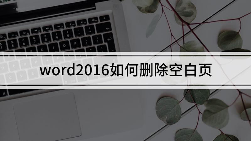 word2016如何删除空白页
