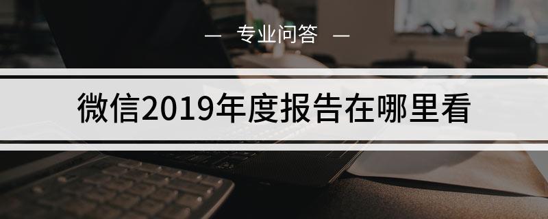 微信2019年度报告在哪里看