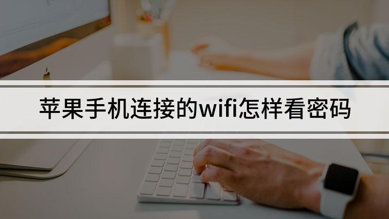 苹果手机连接的wifi怎样看密码