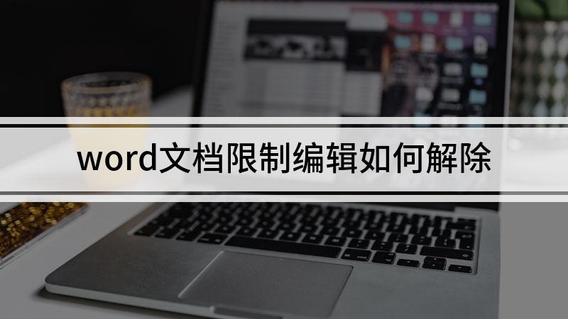 word文档限制编辑如何解除