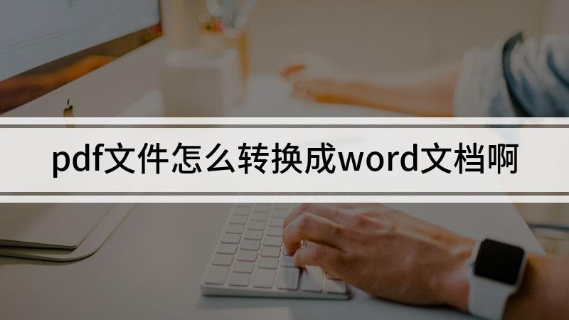 pdf文件怎么转换成word文档啊