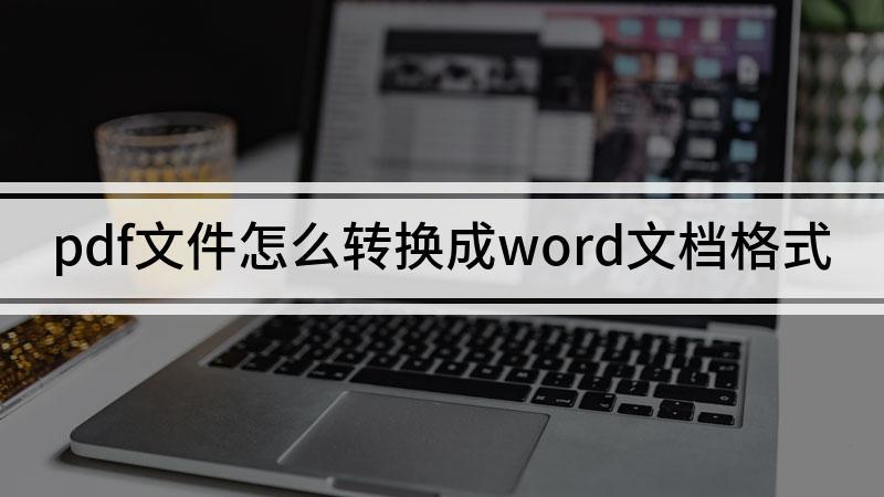 pdf文件怎么转换成word文档格式
