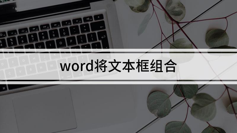 word将文本框组合