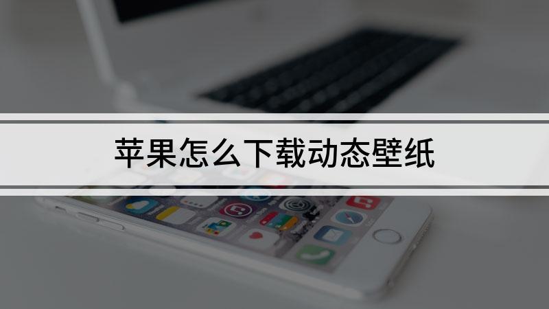 苹果怎么下载动态壁纸