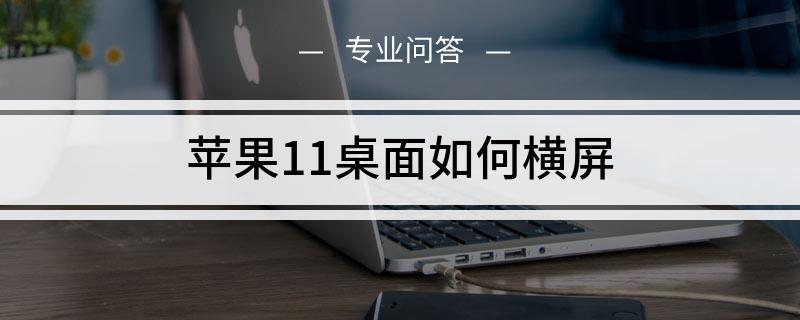 苹果11桌面如何横屏
