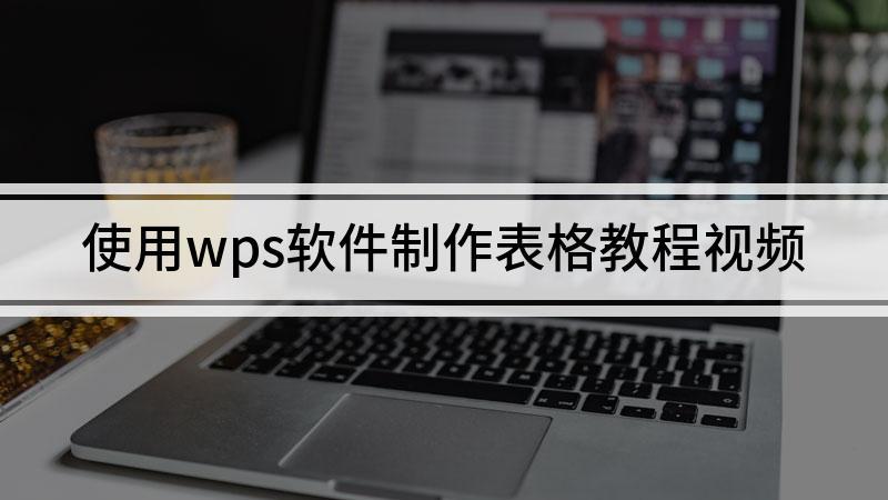使用wps软件制作表格教程视频