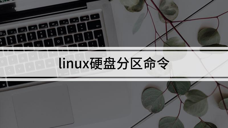 linux硬盘分区命令