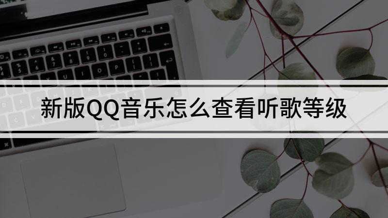 新版QQ音樂怎么查看聽歌等級