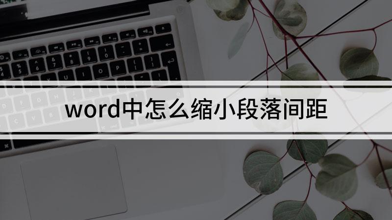 word中怎么缩小段落间距