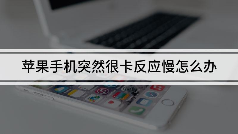苹果手机突然很卡反应慢怎么办