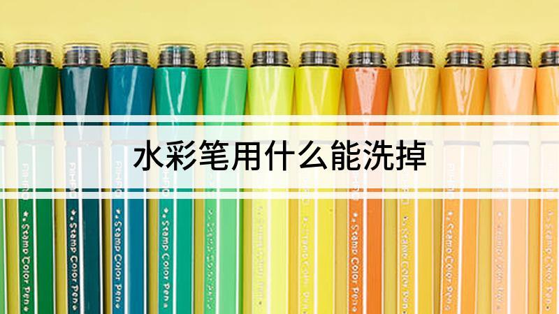 水彩笔用什么能洗掉
