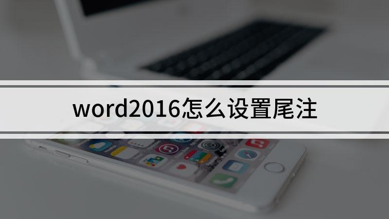 word2016怎么设置尾注