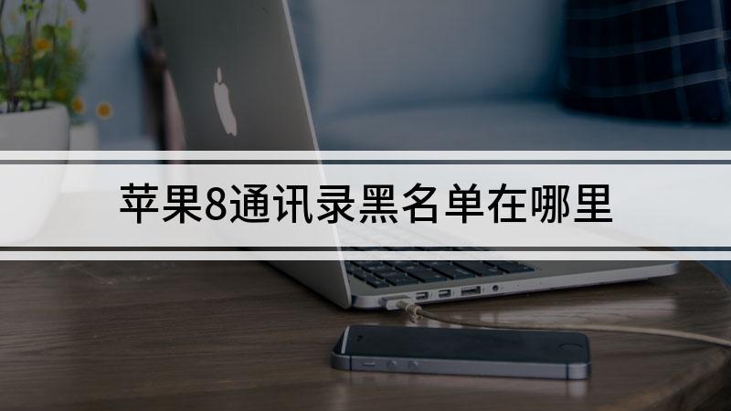 苹果8通讯录黑名单在哪里