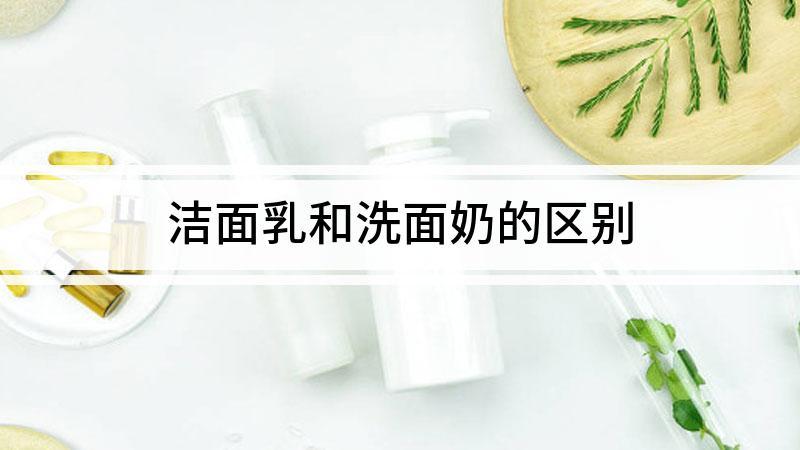 洁面乳和洗面奶的区别