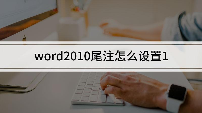word2010尾注怎么设置1