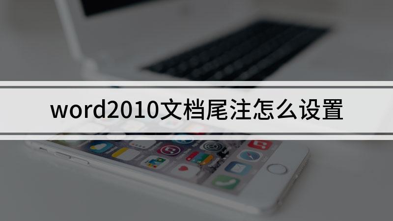 word2010文档尾注怎么设置