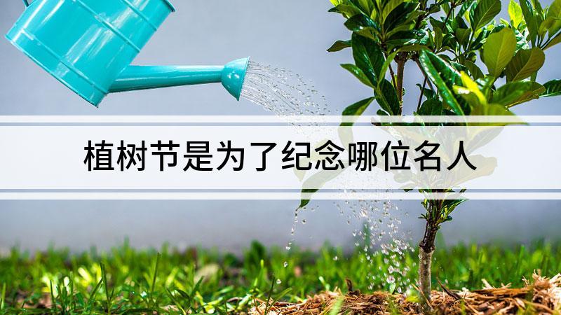 植树节是为了纪念哪位名人