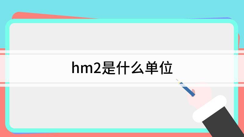 hm2是什么單位