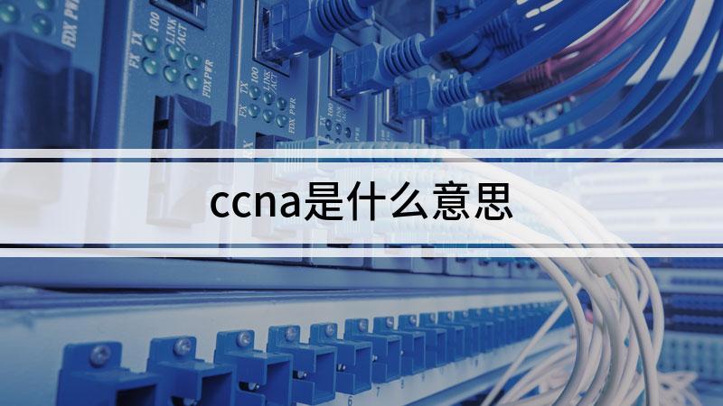 ccna是什么意思