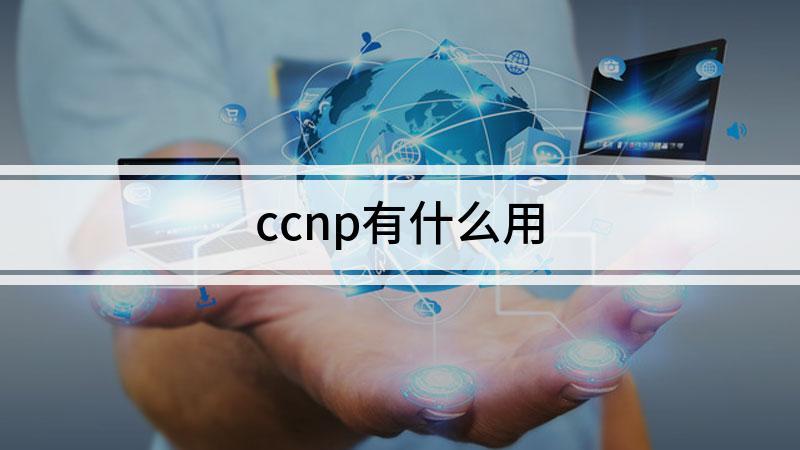 ccnp有什么用