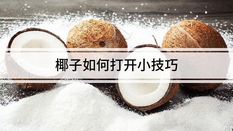椰子如何打开小技巧