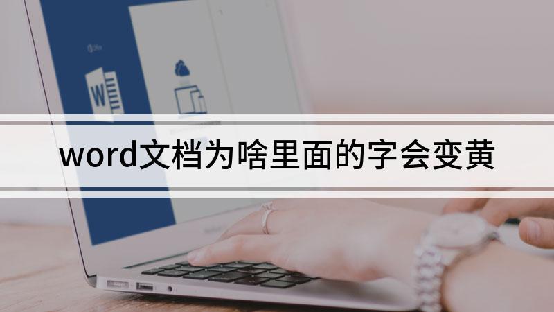 word文档为啥里面的字会变黄