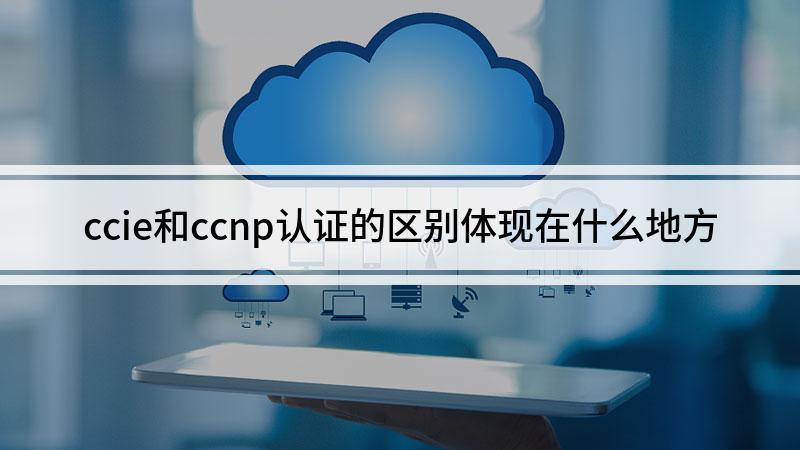 ccie和ccnp认证的区别体现在什么地方