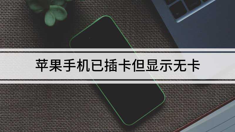 苹果手机已插卡但显示无卡