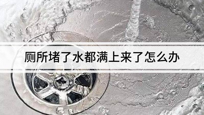厕所堵了水都满上来了怎么办