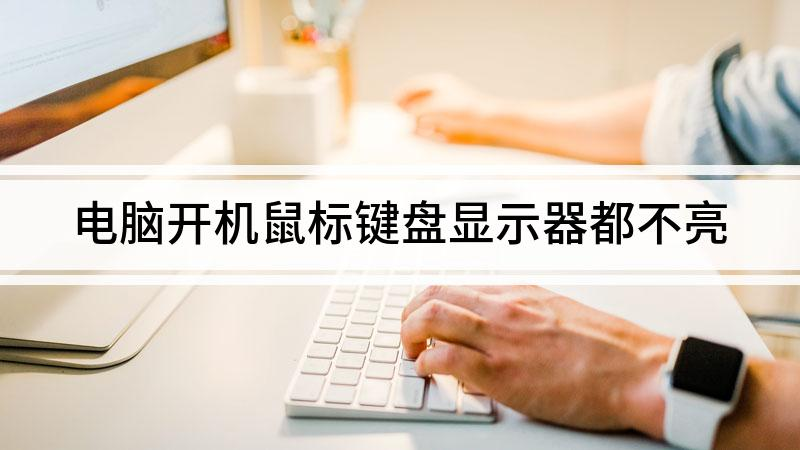 电脑开机鼠标键盘显示器都不亮