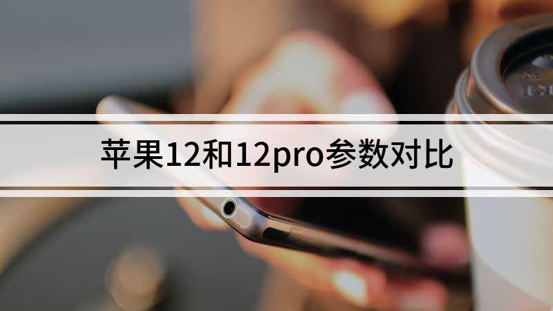 苹果12和12pro参数对比